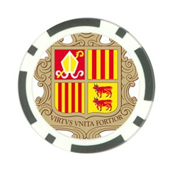 Coat Of Arms Of Andorra Poker Chip Card Guards