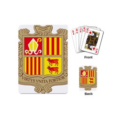 Coat Of Arms Of Andorra Playing Cards (mini)  by abbeyz71