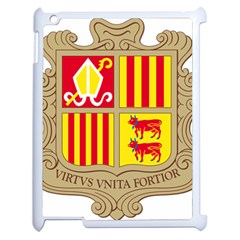Coat Of Arms Of Andorra Apple Ipad 2 Case (white) by abbeyz71