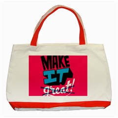 Make It Classic Tote Bag (red) by Jojostore