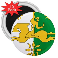 Coat Of Arms Of Abkhazia 3  Magnets (10 Pack)