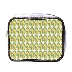 Pattern Circle Green Yellow Mini Toiletries Bags