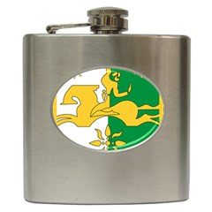 Coat Of Arms Of Abkhazia Hip Flask (6 Oz) by abbeyz71