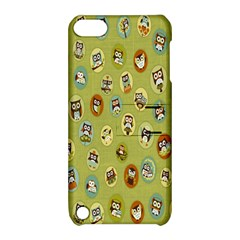 Owl Round Green Apple Ipod Touch 5 Hardshell Case With Stand
