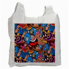 People Face Fun Cartoons Recycle Bag (one Side)