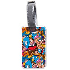 People Face Fun Cartoons Luggage Tags (one Side)  by Jojostore