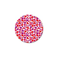 Love Pattern Wallpaper Golf Ball Marker by Jojostore