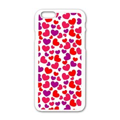 Love Pattern Wallpaper Apple Iphone 6/6s White Enamel Case by Jojostore