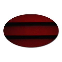 Line Red Black Oval Magnet
