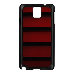 Line Red Black Samsung Galaxy Note 3 N9005 Case (black) by Jojostore