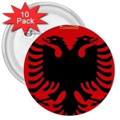 Coat Of Arms Of Albania 3  Buttons (10 Pack)  by abbeyz71