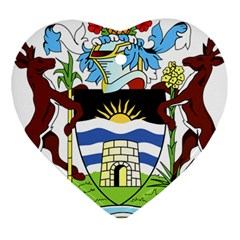 Coat Of Arms Of Antigua And Barbuda Heart Ornament (2 Sides)