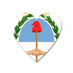 Coat Of Arms Of Argentina Heart Magnet by abbeyz71