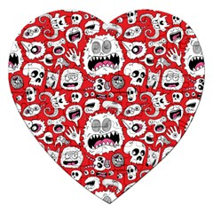 Another Monster Pattern Jigsaw Puzzle (heart)