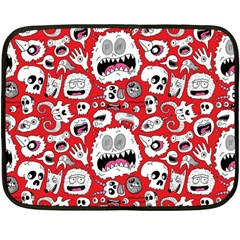 Another Monster Pattern Fleece Blanket (mini) by Jojostore