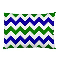 Blue And Green Chevron Pillow Case (two Sides) by Jojostore