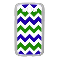 Blue And Green Chevron Samsung Galaxy Grand Duos I9082 Case (white) by Jojostore