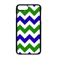 Blue And Green Chevron Apple Iphone 7 Plus Seamless Case (black)