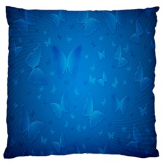 Butterflies Blue Butterfly Standard Flano Cushion Case (one Side)