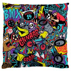 Bike Jumble Large Flano Cushion Case (one Side) by Jojostore