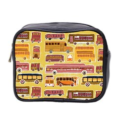 Bus Cartoons Logo Mini Toiletries Bag 2 Side