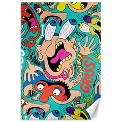 Cartoons Funny Face Patten Canvas 20  X 30   by Jojostore