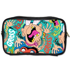 Cartoons Funny Face Patten Toiletries Bags