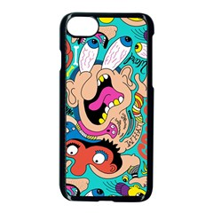 Cartoons Funny Face Patten Apple Iphone 7 Seamless Case (black)