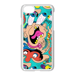 Cartoons Funny Face Patten Apple Iphone 7 Seamless Case (white)
