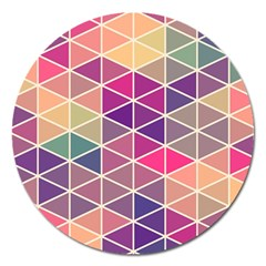 Chevron Colorful Magnet 5  (round) by Jojostore