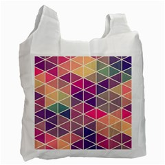 Chevron Colorful Recycle Bag (one Side) by Jojostore