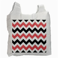Chevron Crazy On Pinterest Blue Color Recycle Bag (one Side) by Jojostore