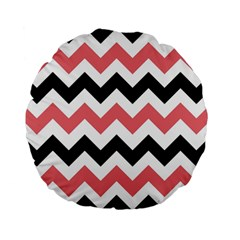 Chevron Crazy On Pinterest Blue Color Standard 15  Premium Flano Round Cushions by Jojostore