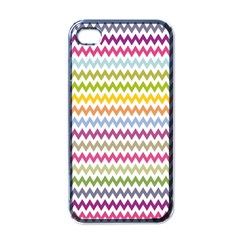 Color Full Chevron Apple Iphone 4 Case (black) by Jojostore
