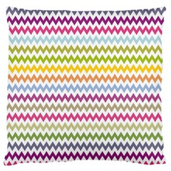 Color Full Chevron Large Flano Cushion Case (one Side) by Jojostore