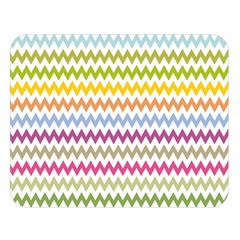 Color Full Chevron Double Sided Flano Blanket (large)