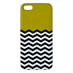 Colorblock Chevron Pattern Mustard Apple Iphone 5 Premium Hardshell Case by Jojostore
