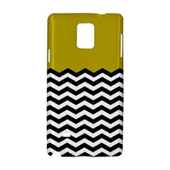 Colorblock Chevron Pattern Mustard Samsung Galaxy Note 4 Hardshell Case by Jojostore
