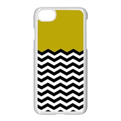 Colorblock Chevron Pattern Mustard Apple Iphone 7 Seamless Case (white) by Jojostore