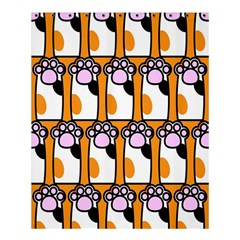 Cute Cat Hand Orange Shower Curtain 60  X 72  (medium)  by Jojostore