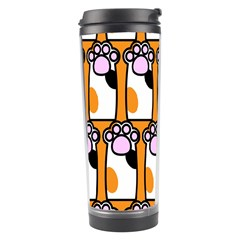 Cute Cat Hand Orange Travel Tumbler by Jojostore