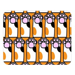 Cute Cat Hand Orange Double Sided Flano Blanket (large)  by Jojostore