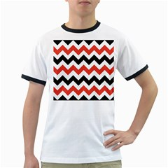Colored Chevron Printable Ringer T-shirts by Jojostore