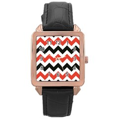 Colored Chevron Printable Rose Gold Leather Watch  by Jojostore