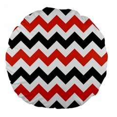 Colored Chevron Printable Large 18  Premium Flano Round Cushions