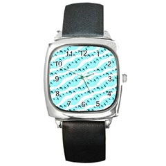 Darkl Ight Fly Blue Bird Square Metal Watch by Jojostore