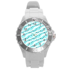 Darkl Ight Fly Blue Bird Round Plastic Sport Watch (l) by Jojostore
