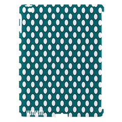 Circular Pattern Blue White Apple Ipad 3/4 Hardshell Case (compatible With Smart Cover) by Jojostore