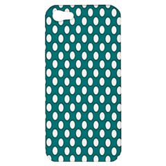 Circular Pattern Blue White Apple Iphone 5 Hardshell Case