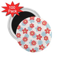 Flower Pink 2 25  Magnets (100 Pack)